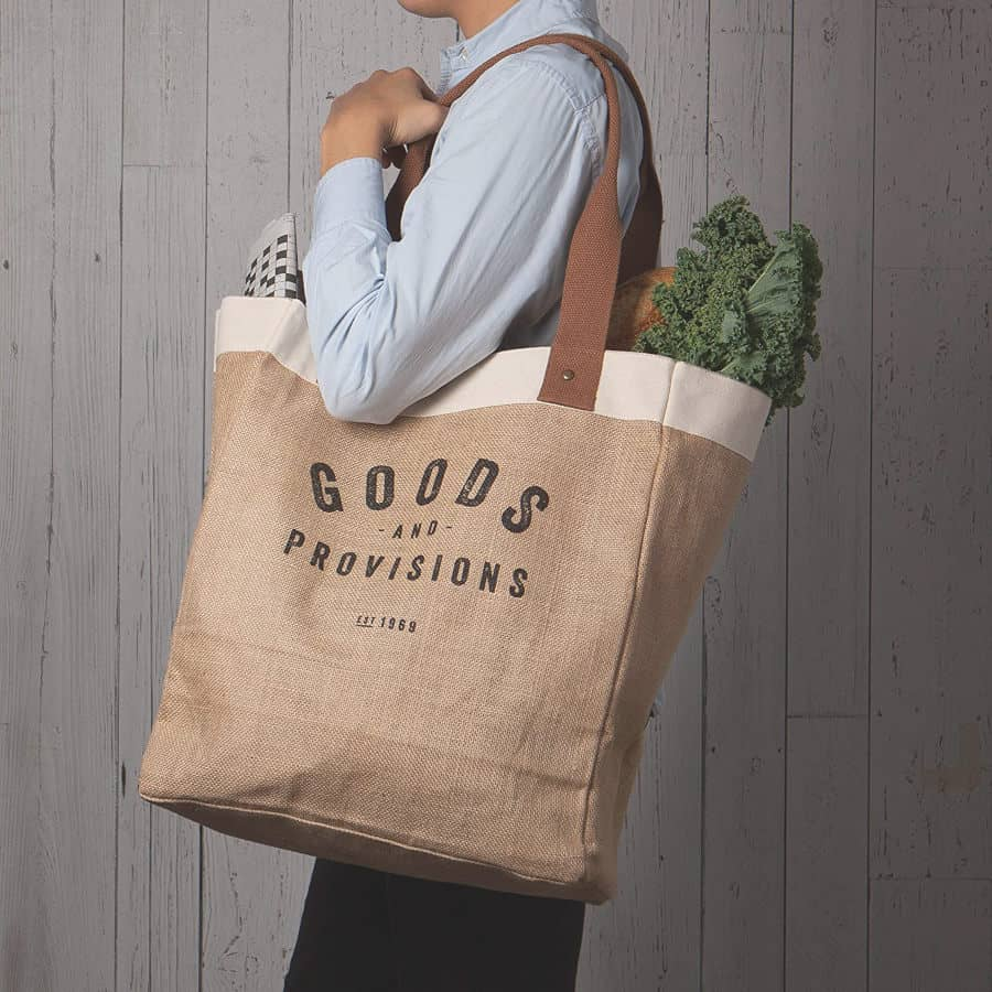 now designs burlap market tote