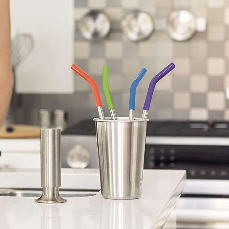 flathead silicone straws